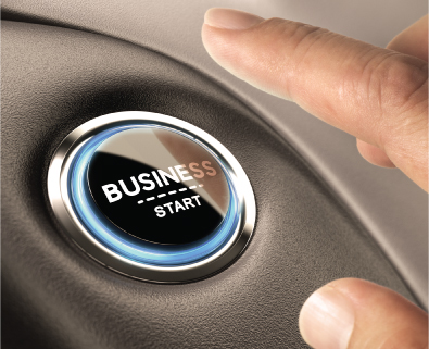 button to start your business